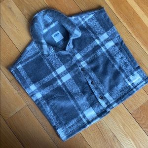Cozy plaid poncho top
